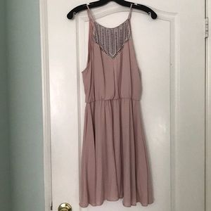 Light Pink/blush MidHigh neck Dress